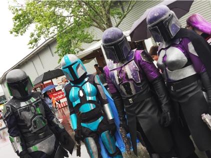 The 501 legion Mandalorian with Mandalorian Armour...