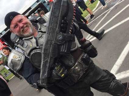 A great Gears or War two cosplay.- the details are incredible..