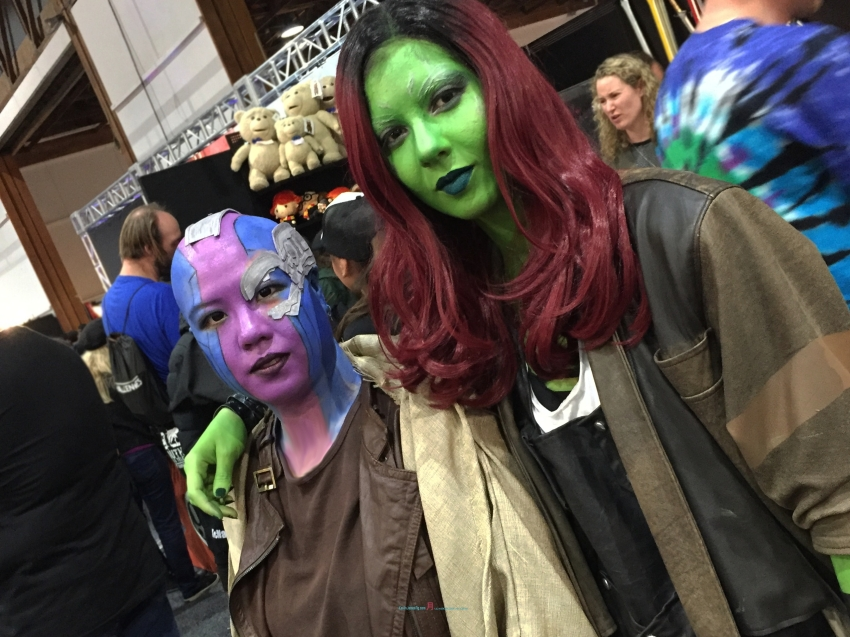 Marvel's Guardians of the Galaxy Nebula and Gamora