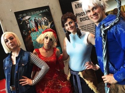 great group of Cosplaying that Anime series