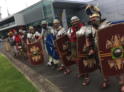 It's the Romans from the Roman Imperium.. also thanks to one member of the Roman Imperium whom got me a exhibitor pass whom other wise would wait in line in the queue..