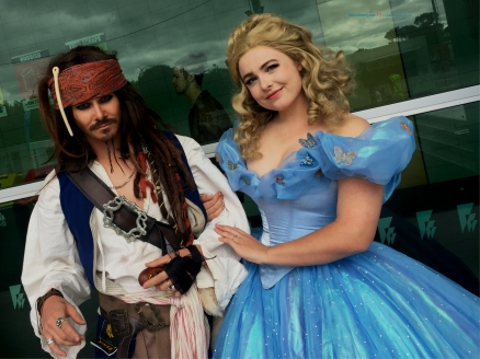 Two interesting couples both share the same Disney.. Pirates of the Caribbean Captain Jack Sparrow also the Cinderella....