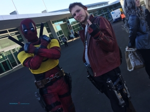 Deadpool with the company of Peter Quill - aka Star Lord....