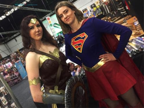 Two Powerful Women.. Wonder Woman - Diana Prince also Super girl - Kara Zor El -Danvers..