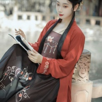 #漢服 #HanFu #HanDynastyClothing |#兰若庭汉服 #汉服资讯 | #FashionLookBook #MusicVideoCollection - for an urban bold reds dark greys warm Summery Autumn everyday contempary #TangDynasty look ….