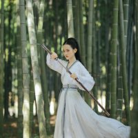 #漢服 #HanFu #HanDynastyClothing | #明珠SARA #七月夕汉服 | #FashionLookBook #MingDynasty – for a Morning everyday summery walk into an intrepid bamboo forest look ….