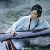 #漢服 #HanFu #HanDynastyClothing  #明珠SARA   #FashionLookBook _ for a bamboo forest creek summery spring look...