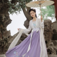 #漢服 #HanFu #HanDynastyClothing  |#明珠SARA #不及丿 | #FashionLookBook – Looking for an urban #MingDynastyClothing Summer Autumn pastel blossom jade pavilion home courtyard look …