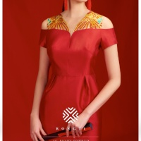 #QIPAO #旗袍 #Cheongsam |#榕缇新中式嫁衣定制 #RongtiDesign #June2021| #FashionLookBook your everyday timeless red Qipao –Cheongsam silhouette inspire new evening #RongTiDressSeries collection  with individual handcrafted sewn expressing Femininity elegant sophisticated intelligent …..