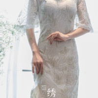 #QIPAO #旗袍 #Cheongsam |#成都绣匠旗袍   #ChengduEmbroiderersCheongsam #ShowJiang #July2021| #FashionLookBook your everyday timeless spring fresh snowy lacy #WhiteQipao #TraditionalChineseQipao #Cheongsam your individual handcrafted sewn embroidery delicate textured peals buttons white trims ……